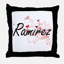 Ramirez Artistic Design with Hearts Throw Pillow