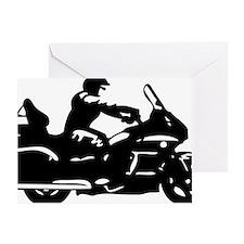 goldwing biker Greeting Card