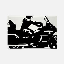 goldwing biker Rectangle Magnet
