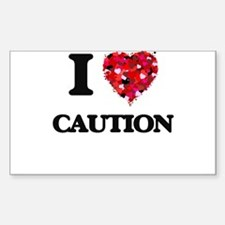 I love Caution Decal
