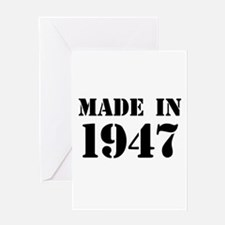 Made in 1947 Greeting Cards