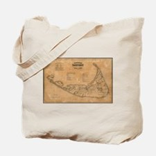 Vintage Map of Nantucket (1869) Tote Bag