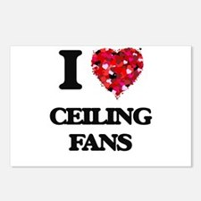 I love Ceiling Fans Postcards (Package of 8)
