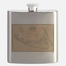 Vintage Map of Nantucket (1869) Flask