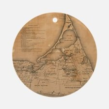 Vintage Map of Nantucket (1869) Ornament (Round)