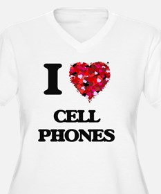 I love Cell Phones Plus Size T-Shirt