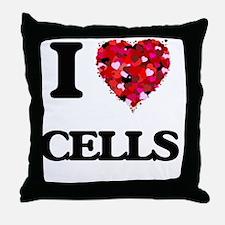 I love Cells Throw Pillow