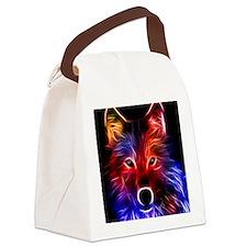 3D firefox Canvas Lunch Bag