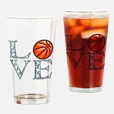 Love Basketball Drinking Glass