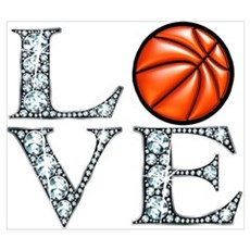 Love Basketball Canvas Art
