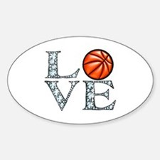 Love Basketball Sticker (Oval)
