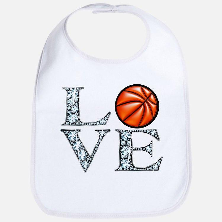 Love Basketball Bib