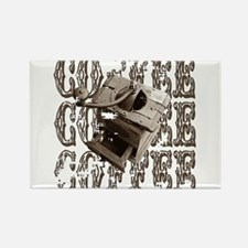 Coffee Grinder - Sepia Rectangle Magnet (10 pack)