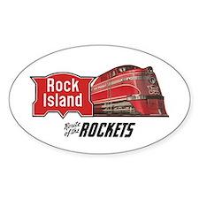 Rock Island 2 Oval Decal