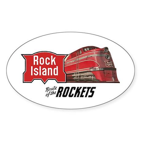 Rock Island 2 Oval Sticker