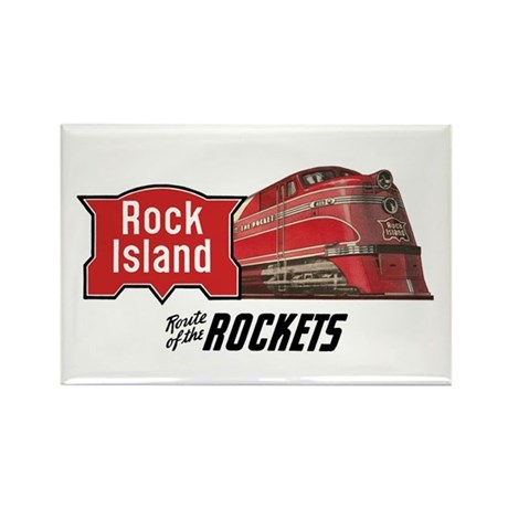 Rock Island 2 Rectangle Magnet