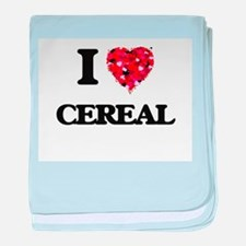 I love Cereal baby blanket