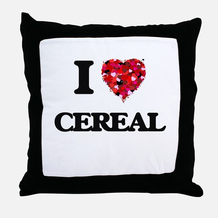 I love Cereal Throw Pillow