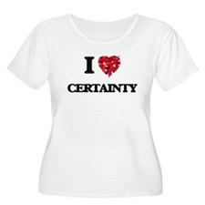 I love Certainty Plus Size T-Shirt