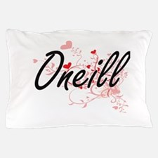 Oneill Artistic Design with Hearts Pillow Case