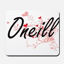 Oneill Artistic Design with Hearts Mousepad