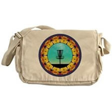 Disc Golf Abstract Basket 4 Messenger Bag