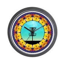 Disc Golf Abstract Basket 4 Wall Clock