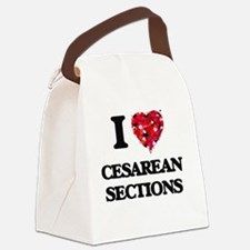 I love Cesarean Sections Canvas Lunch Bag