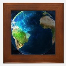 Planet Earth Framed Tile