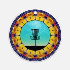 Disc Golf Abstract Basket 4 Ornament (Round)