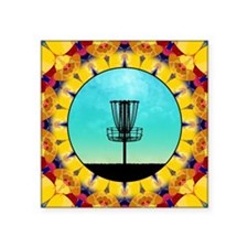 Disc Golf Abstract Basket 4 Sticker
