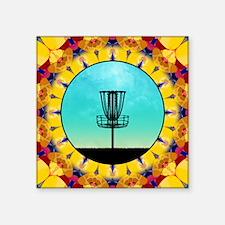 Disc Golf Abstract Basket 4 Sticker