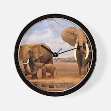 Family Of Elephants Wall Clock
