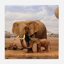 Family Of Elephants Tile Coaster