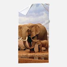 Family Of Elephants Beach Towel