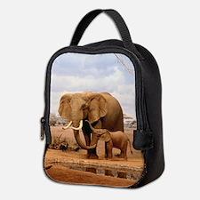 Family Of Elephants Neoprene Lunch Bag