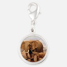 Family Of Elephants Charms