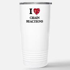 I love Chain Reactions Stainless Steel Travel Mug