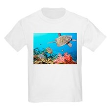 Turtle and Fishes Under Water T-Shirt