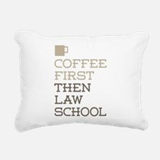 Coffee Then Law School Rectangular Canvas Pillow