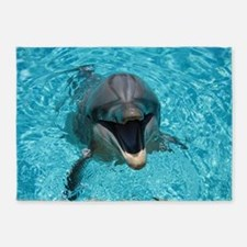 Smiling Dolphin 5'x7'Area Rug