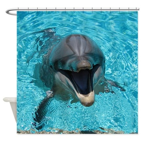 Smiling Dolphin Shower Curtain By WickedDesigns4