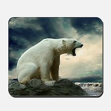 Polar Bear Roaring Mousepad