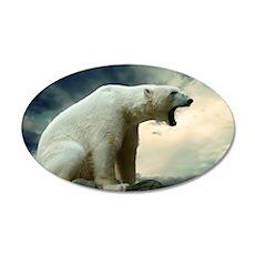 Polar Bear Roaring Wall Decal