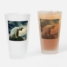Polar Bear Roaring Drinking Glass