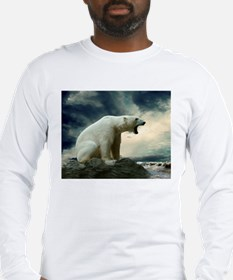 Polar Bear Roaring Long Sleeve T-Shirt