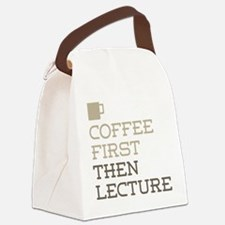 Coffee Then Lecture Canvas Lunch Bag