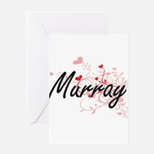 Murray Artistic Design with Hearts Greeting Cards