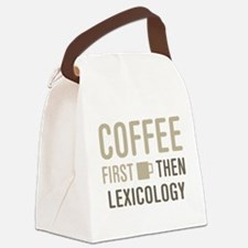 Coffee Then Lexicology Canvas Lunch Bag