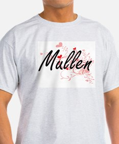 Mullen Artistic Design with Hearts T-Shirt